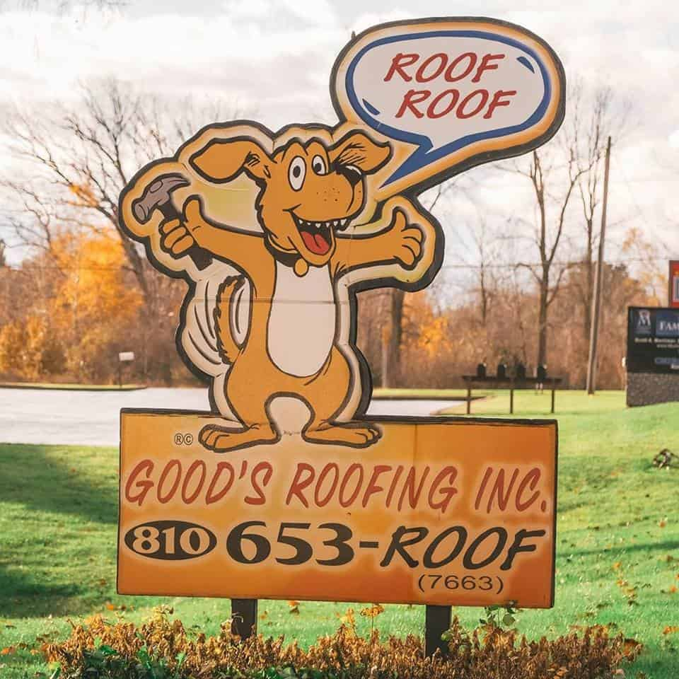 Goods Roofing - Sign